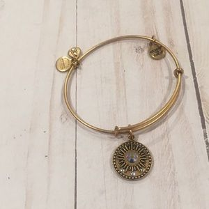 "Alex and Ani ""Be in the Moment"" gold bracelet"